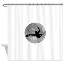 Soccer Goalie Moon Shower Curtain