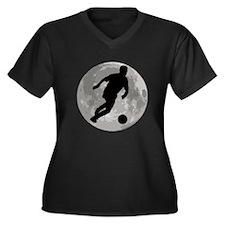 Soccer Player Moon Plus Size T-Shirt