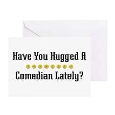 Hugged Comedian Greeting Cards (Pk of 10)