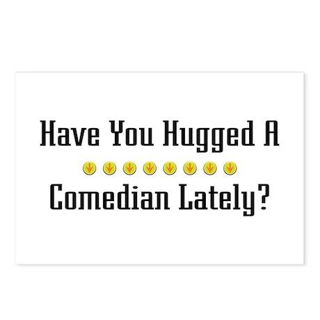 Hugged Comedian Postcards (Package of 8)