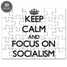 Keep Calm and focus on Socialism Puzzle