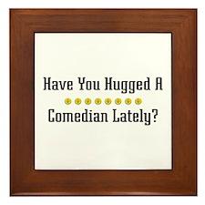 Hugged Comedian Framed Tile