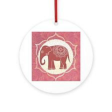 Indian Elephant Ornament (Round)
