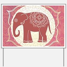 Indian Elephant Yard Sign