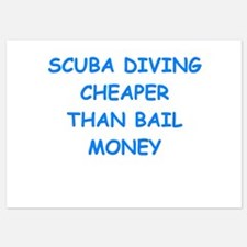 scuba diving Invitations