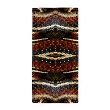 Red Striped Snake Beach Towel