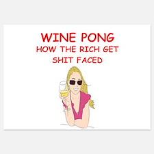 wine pong Invitations