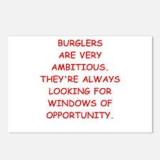 burglars Postcards (Package of 8)