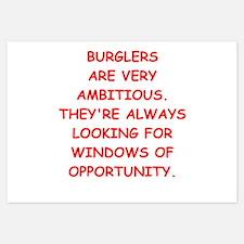 burglars Invitations