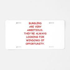 burglars Aluminum License Plate