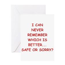 safe Greeting Card