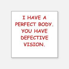 """perfect body Square Sticker 3"""" x 3"""""""
