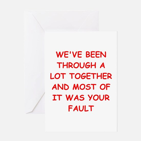 blame Greeting Card