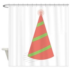 Party Hat Shower Curtain