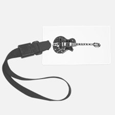 Jazz Guitar Luggage Tag