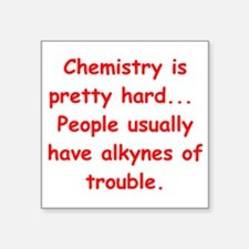 "CHEMISTRY3 Square Sticker 3"" x 3"""