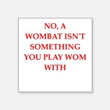 "WOMBAT Square Sticker 3"" x 3"""