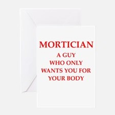 mortician Greeting Card