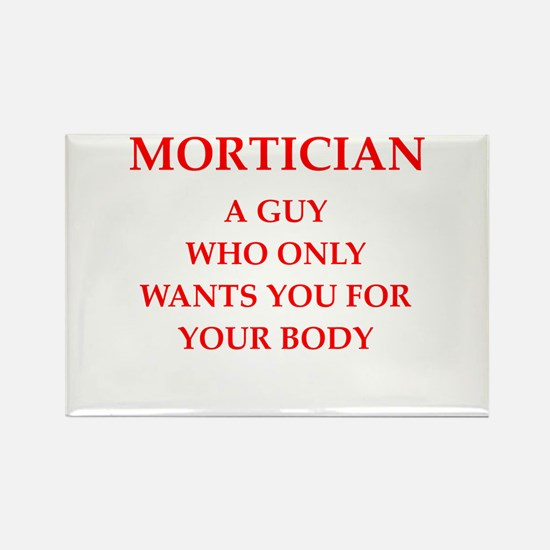 mortician Rectangle Magnet