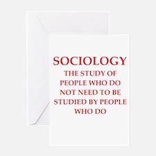 sociology Greeting Card