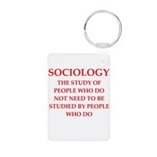 sociology Aluminum Photo Keychain