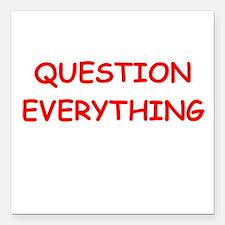 """question Square Car Magnet 3"""" x 3"""""""