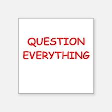 """question Square Sticker 3"""" x 3"""""""