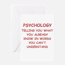 psychology Greeting Card
