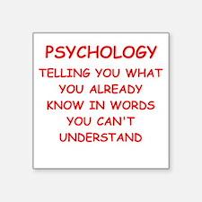 "psychology Square Sticker 3"" x 3"""