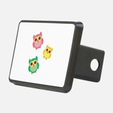 Colorful Owls Hitch Cover
