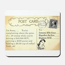 Post Office complaint humor Mousepad