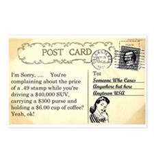 Post Office complaint humor Postcards (Package of