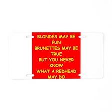 redhead Aluminum License Plate