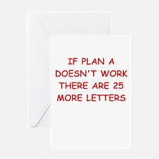 plan b Greeting Card