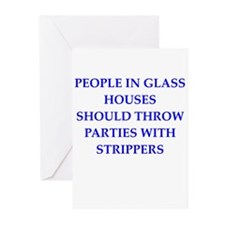 glass houses Greeting Cards (Pk of 20)