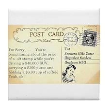 Post Office complaint humor Tile Coaster