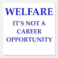 "welfare Square Car Magnet 3"" x 3"""