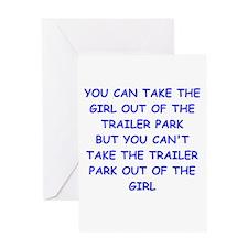 trailer park Greeting Card