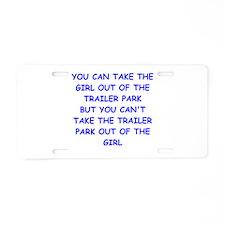 trailer park Aluminum License Plate