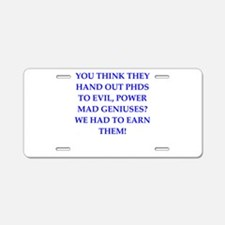 PHD Aluminum License Plate