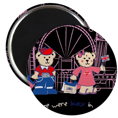 """Busy in london 2.25"""" Magnet (100 pack)"""