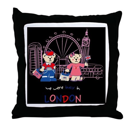 Busy in london Throw Pillow