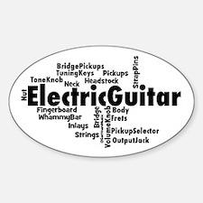 Electric Guitar Decal