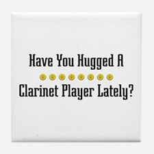 Hugged Clarinet Player Tile Coaster