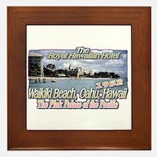 Royal Hawaiian Hotel 1952 Framed Tile