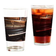 Love Piano Drinking Glass