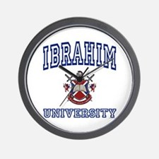IBRAHIM University Wall Clock
