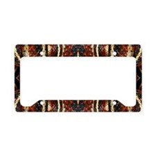 Red Striped Snake License Plate Holder