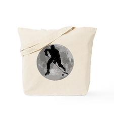 Hockey Player Moon Tote Bag