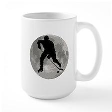 Hockey Player Moon Mugs